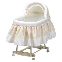 Pretty Pique Bassinet Set