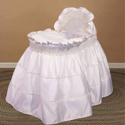 Ruffled Tiered Bassinet