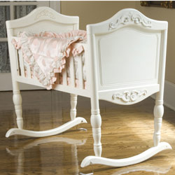 Antique White Cradle