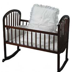 Eyelet Portable Crib Bedding