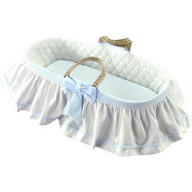 Skirted Gingham Moses Basket