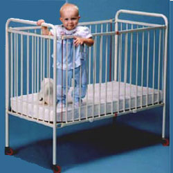 Metal Foldable Crib - Compact Size