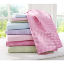 Jersey Knit Gingham Mosses Basket Sheet