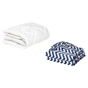 Round Crib Mattress Protector and 2 Chevron Sheets Combo