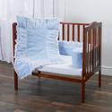 Blue with Tulle Portable Crib Bedding Set