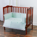 Ruffle Mint Porta Crib Bedding