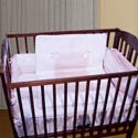 Sweet Ribbon Porta Crib Bedding