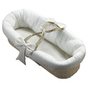 Eyelet Fitted Baby Moses Basket