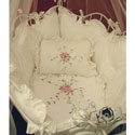 Rose Provence Cradle Bedding