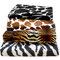 Animal Print Cotton Cradle Sheet