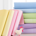 Pastel Gingham Cotton Cradle Sheet